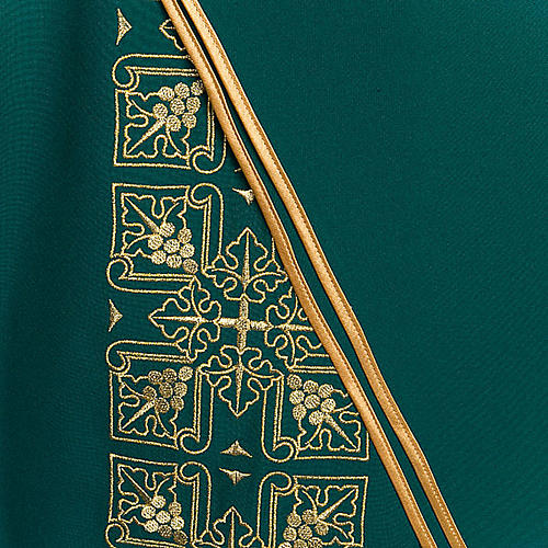 Casula liturgica e stola ricamo croce grande 5