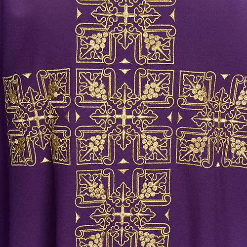 Casula liturgica e stola ricamo croce grande 7