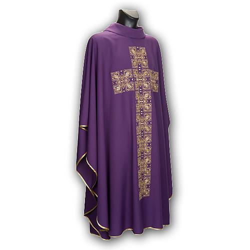 Casula liturgica e stola ricamo croce grande 8