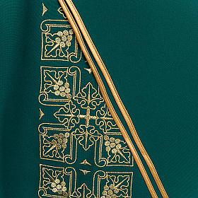 Casula litúrgica e estola bordado grande cruz s5