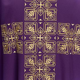 Casula litúrgica e estola bordado grande cruz s7