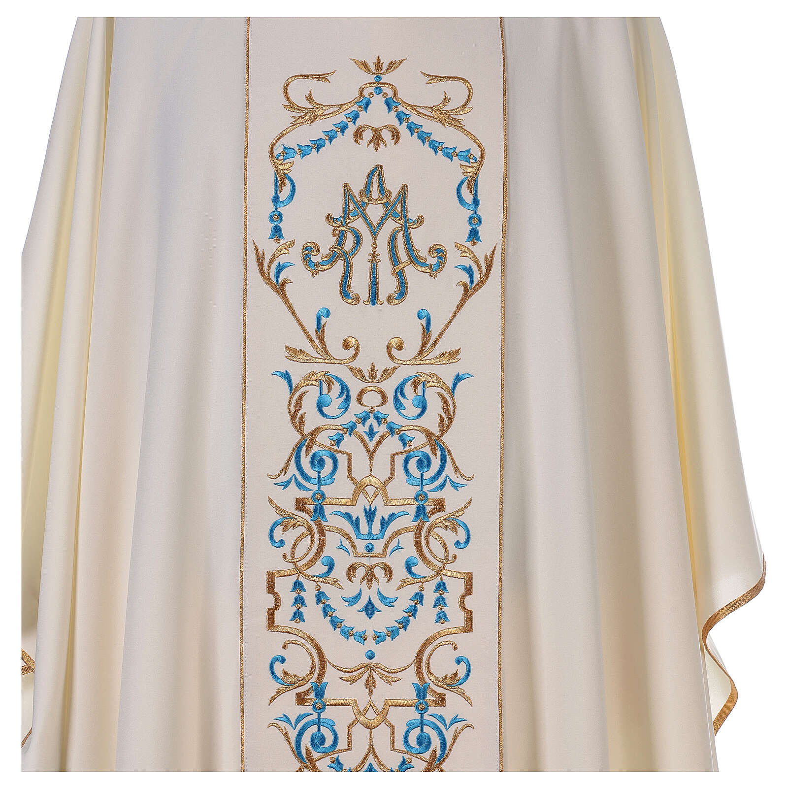 Casula mariana e estola bordado MA 4