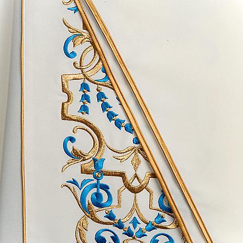 Casula mariana e estola bordado MA 2