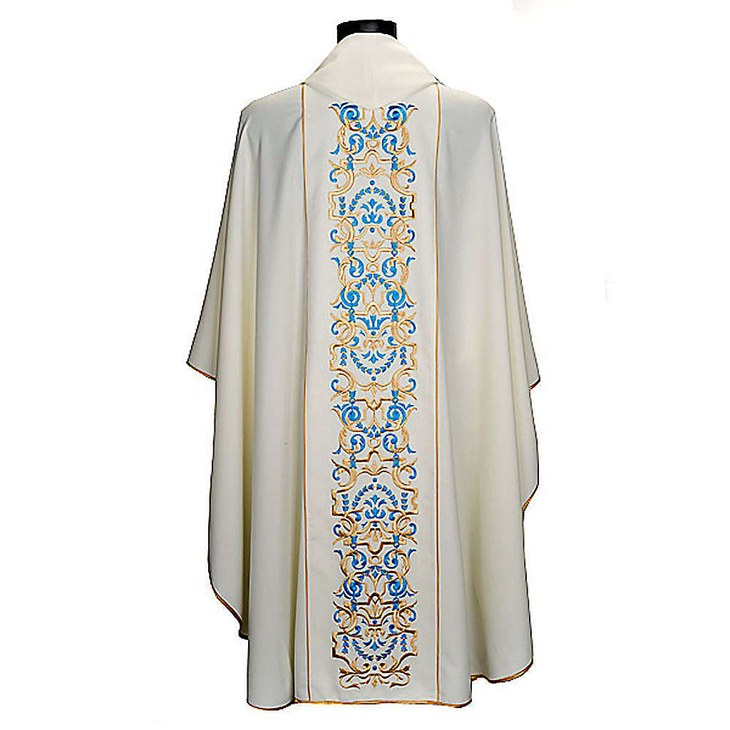 White Marian Chasuble with embroidered orphrey 4