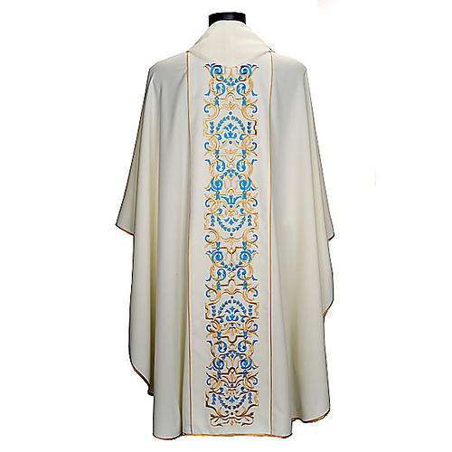 White Marian Chasuble with embroidered orphrey 5
