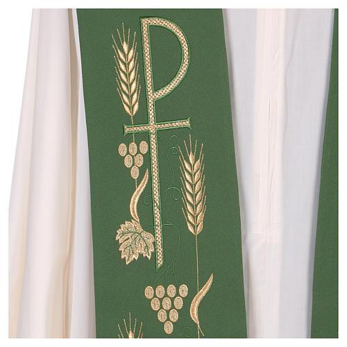 Estola litúrgica bordado con XP 2