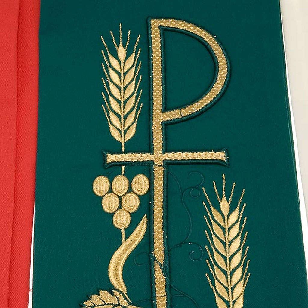 Stola liturgica ricamo con XP 4