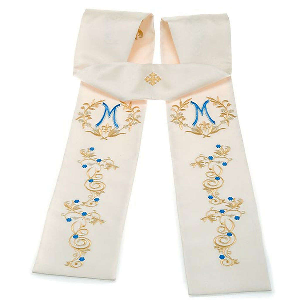 White Marian clergy stole 4