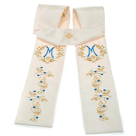 White Marian clergy stole s1