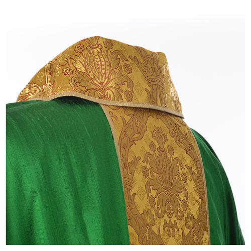 Chasuble 100% silk decorated in gold 11