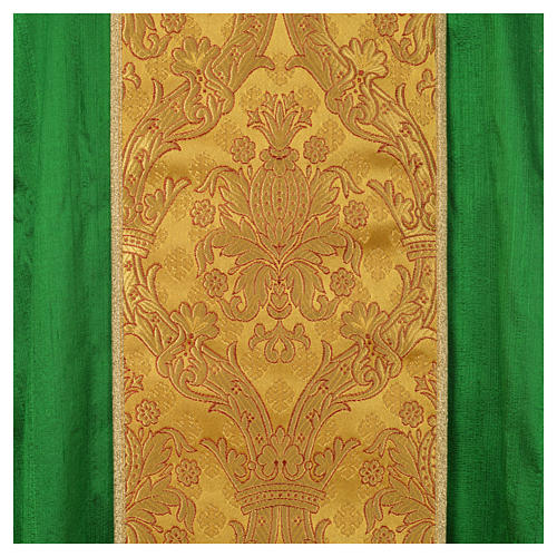 Chasuble soie 100% décor doré 9