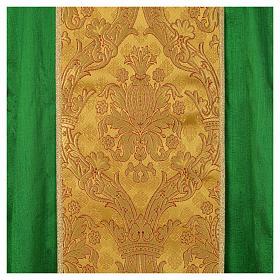 Casula sacerdote 100% seda bordado dourado s9