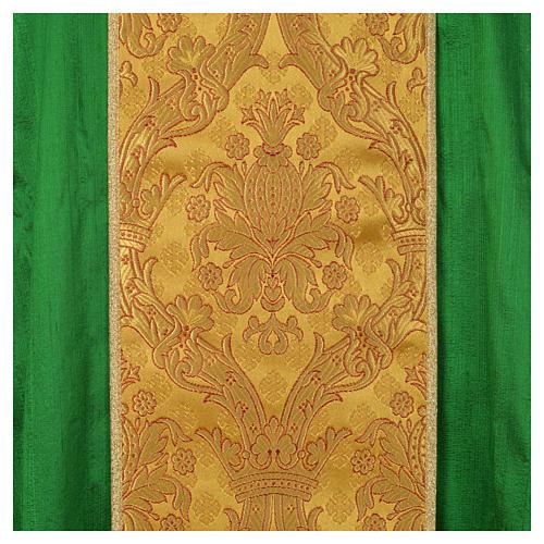 Casula sacerdote 100% seda bordado dourado 9