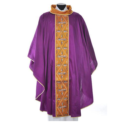 Chasuble 100% silk cross 5