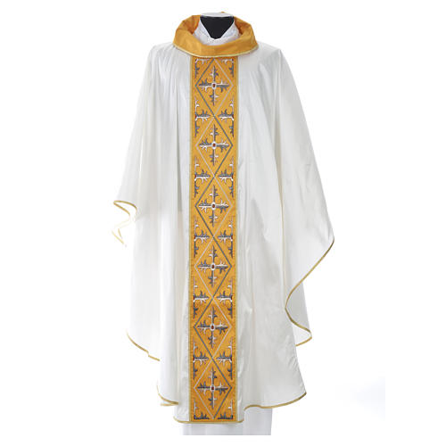 Chasuble 100% silk cross 7