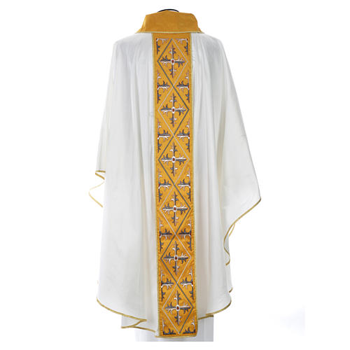 Casula sacerdotale seta 100% ricamo croce 8