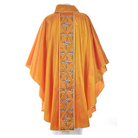 Casula sacerdote 100% seda bordado cruz s4