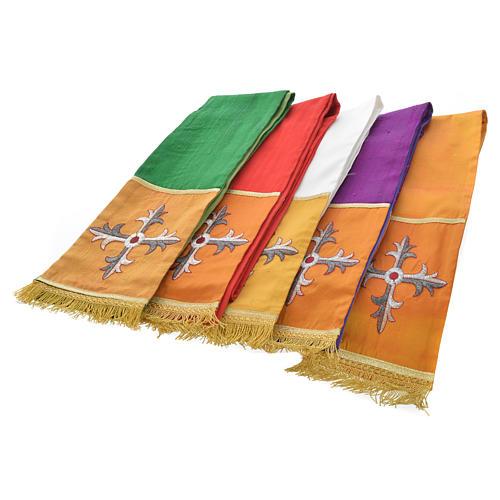 Casula sacerdote 100% seda bordado cruz 13