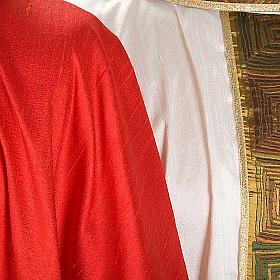 Casula sacerdote 100% seda bordado quadrados s7