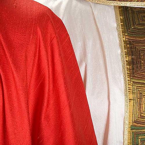 Casula sacerdote 100% seda bordado quadrados 7