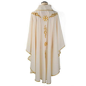 Liturgical chasuble with golden embroidery s2