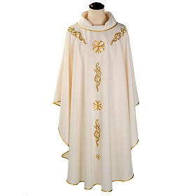 Casula liturgica ricamo dorato s1