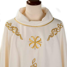 Casula liturgica ricamo dorato s3