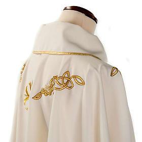 Casula liturgica ricamo dorato s6