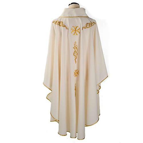 Casula liturgica ricamo dorato 2