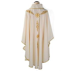 Casula litúrgica bordado dourado s2