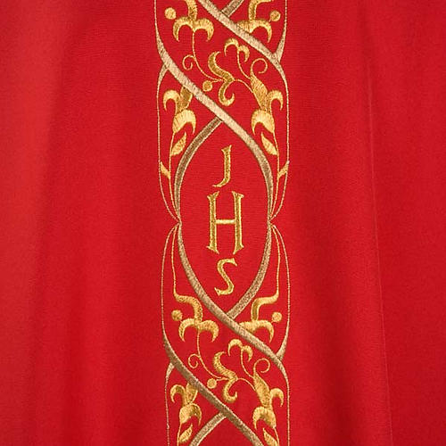 Chasuble IHS embroidery 3