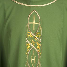 Casula liturgica con ricamo IHS s2