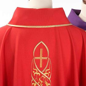 Casula liturgica con ricamo IHS s4