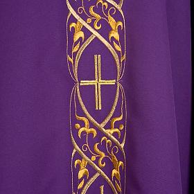 Casula litúrgica com bordado IHS s5