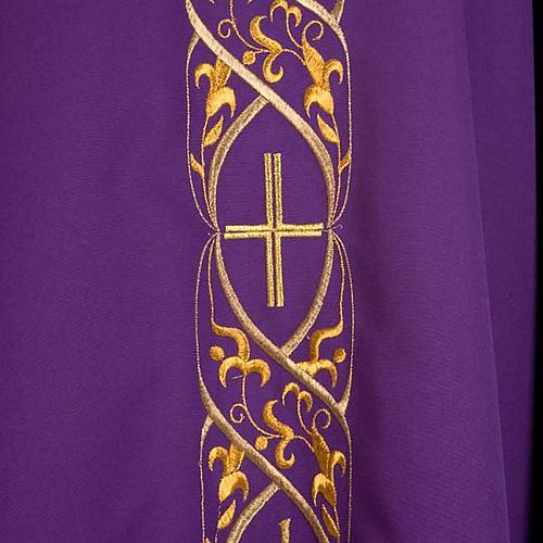 Casula litúrgica com bordado IHS 5