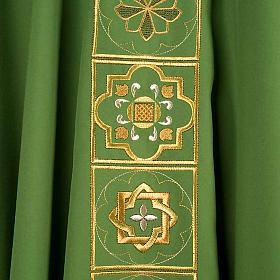 Casula liturgica con ricamo dorato s3