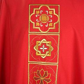 Casula liturgica con ricamo dorato s4