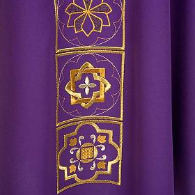 Casula liturgica con ricamo dorato s5