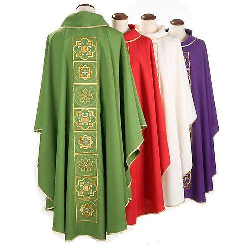 Casula liturgica con ricamo dorato 2