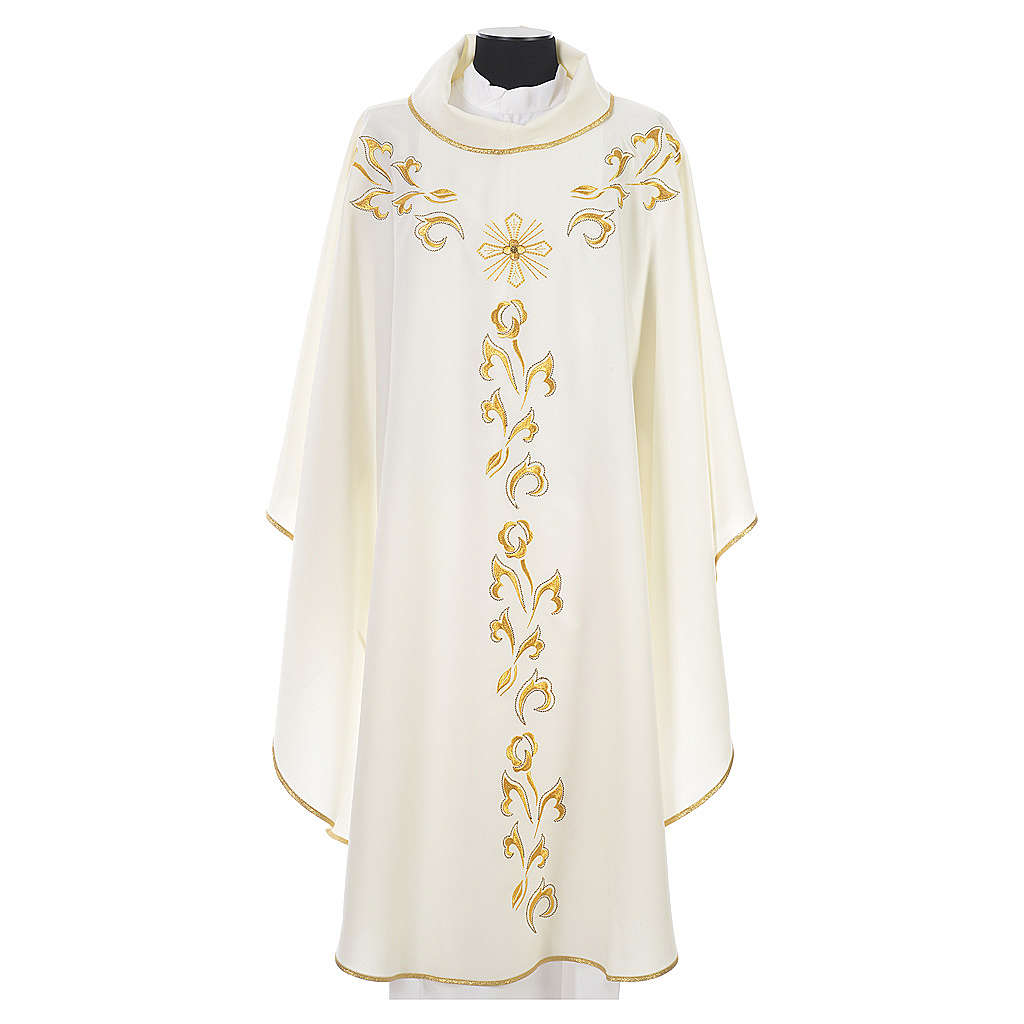 Chasuble golden embroidery and cross 4