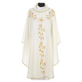 Chasuble golden embroidery and cross s11
