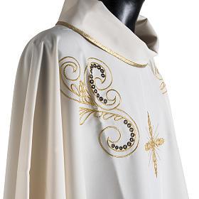 Casula litúrgica bordado dourado cruz s6