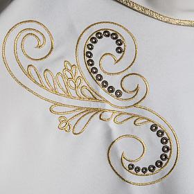 Casula litúrgica bordado dourado cruz s10