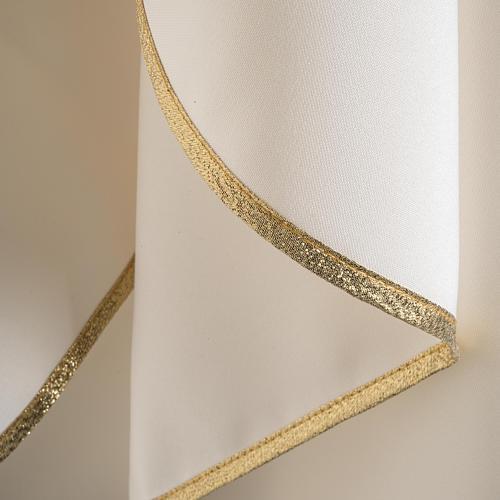 Casula litúrgica bordado dourado cruz 7