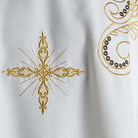 Chasuble with Roll Collar golden cross embroidery s3