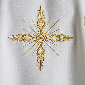 Chasuble with Roll Collar golden cross embroidery s4