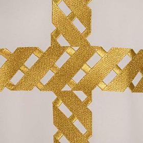Casula litúrgica bordado cruz dourada s6