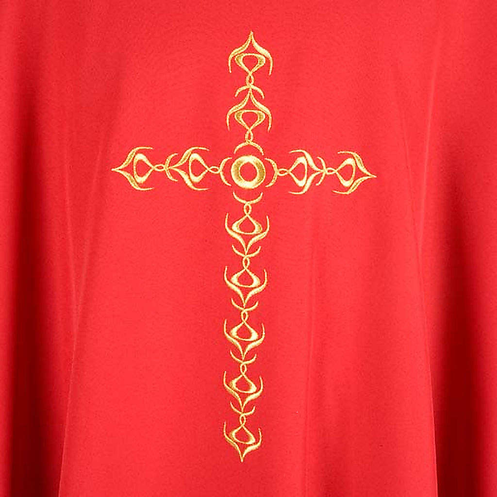 Monastic Chasuble with Golden Cross Embroidery 4