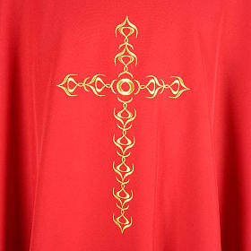 Monastic Chasuble with Golden Cross Embroidery s3
