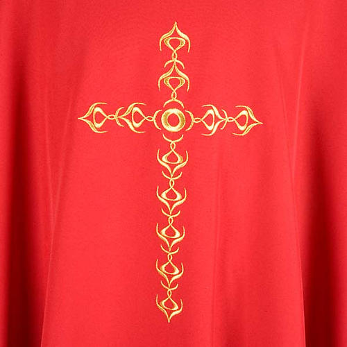 Monastic Chasuble with Golden Cross Embroidery 3